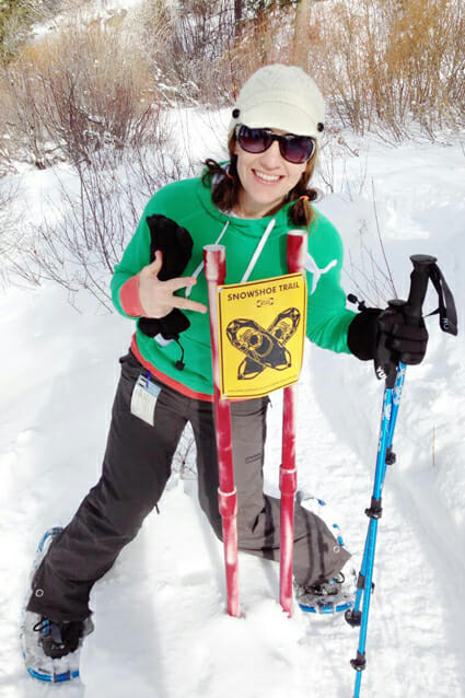 Sara Our Best Bites Snowshoeing