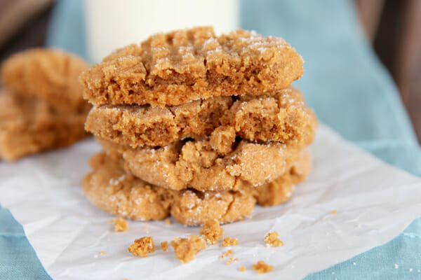 Super Soft peanut butter cookeis from our best bites