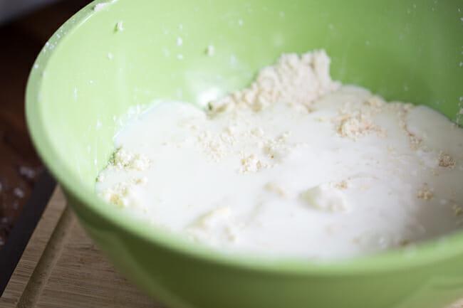 buttermilk in flour