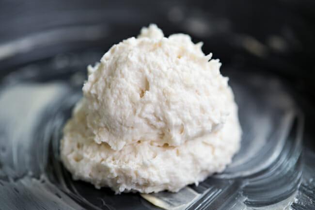 biscuit dough in pan