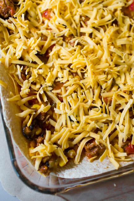 burrito pie layer