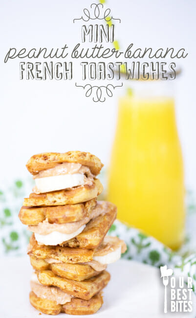 Peanut Butter Banana French Toastwiches