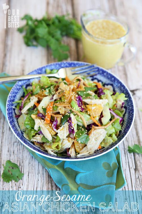 Orange Sesame Asian Chicken Salad from Our Best Bites