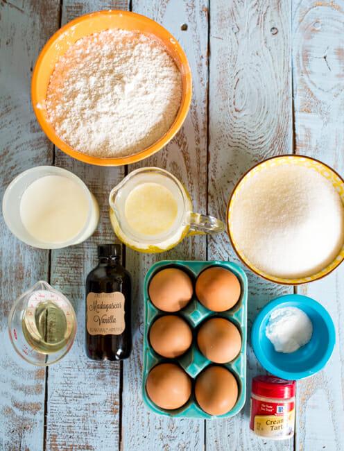 yellow cake ingredients