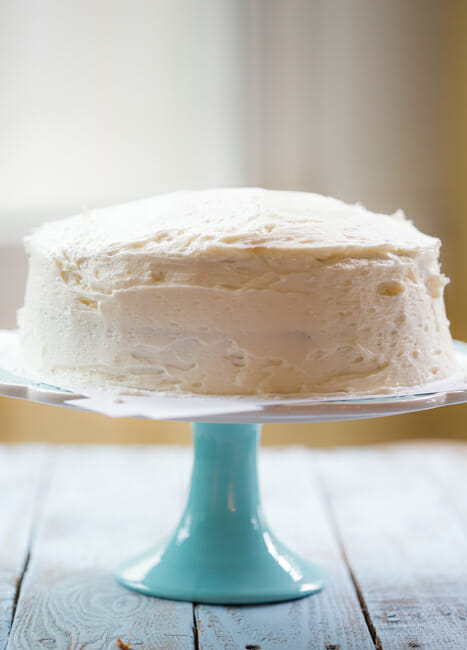 smoothed frosting