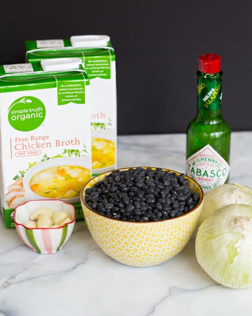 slow cooker black beans ingredients