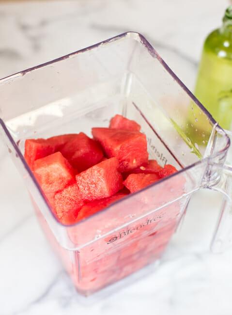 watermelon in blender