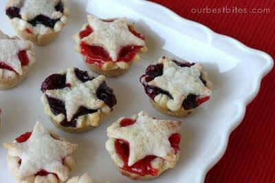 star studded mini pies