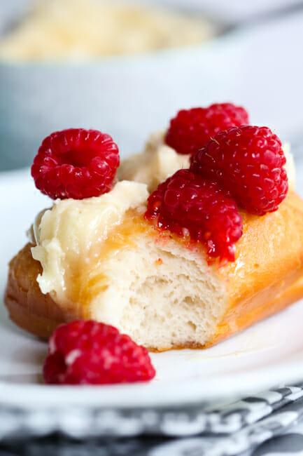 bite of fa raspberry honey butter scone