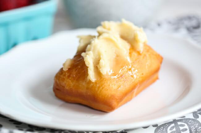 honey butter on scone
