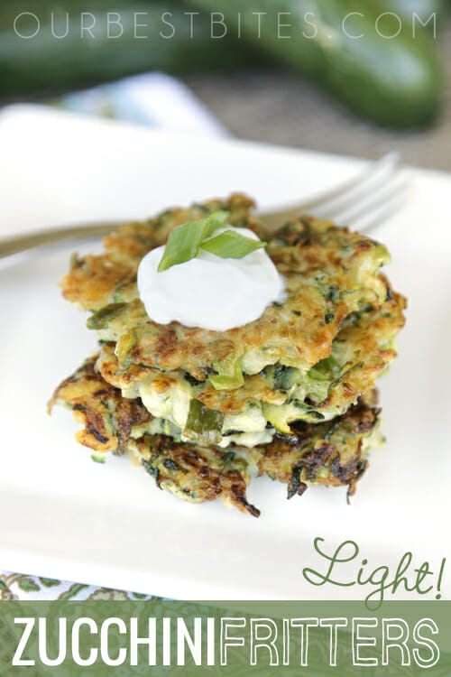 Healthy Zucchini Fritters from Our Best Bites