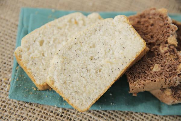 Lemon Poppyseed Ice Cream Bread