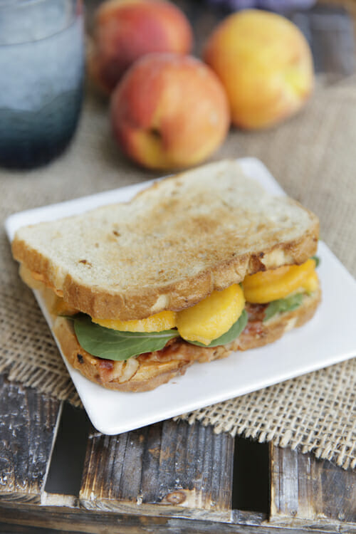Peachy Bacon Sandwich from Our Best Bites