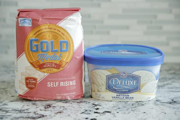 flour and ice cream