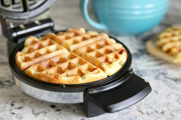 Cheddar Waffles_Cooked