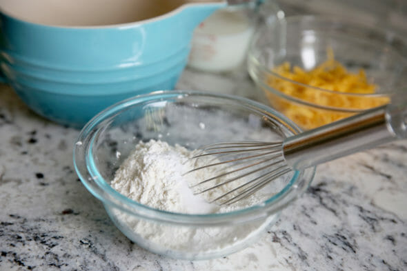 Cheddar Waffles_dry ingredients