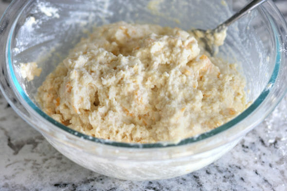 Cornmeal Rolls_Butter Wet Dough
